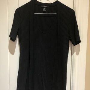 Black forever 21 swing dress with neck tie
